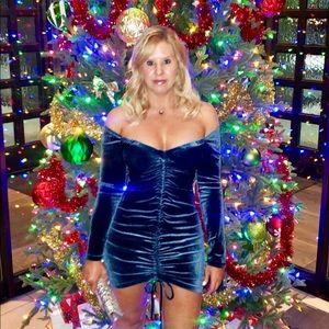 Velvet Ruched Dress